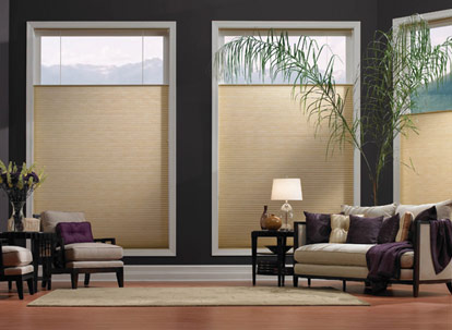 timber 3/4 inch single cell spun lace light filtering cellular shades