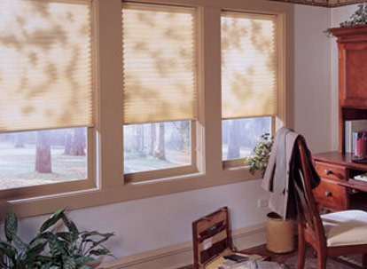 timber 9/16 inch single cell spun lace light filtering cellular shades