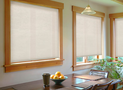 timber 3/8 inch double cell light filtering cellular shades