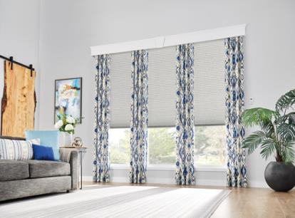 new - graber crystal pleat 3/4 inch single cell light filtering and sheer cellular shades