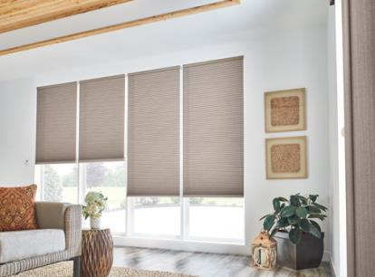 new - graber crystal pleat 1/2 inch double cell light filtering cellular shades