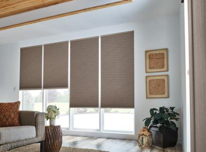 new - graber crystal pleat 1/2 inch double cell blackout cellular shades