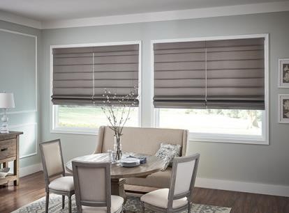 graber looped style roman shade