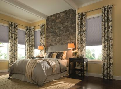 graber crystal pleat 3/4 inch single cell blackout cellular shades
