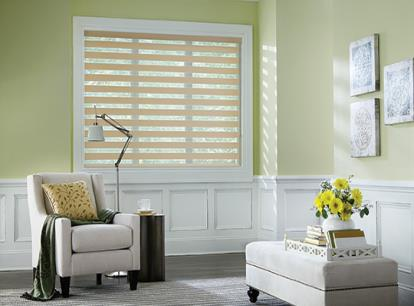 graber layered light filtering horizontal shade