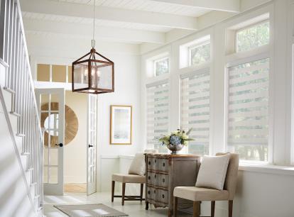 graber layered light filtering horizontal shade
