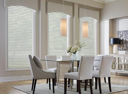 graber overture sheer light filtering horizontal shades