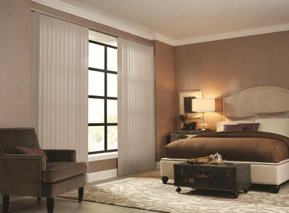 3 1/2 inch graber free hanging fabric vertical blinds