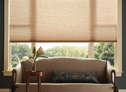 graber crystal pleat 3/4 inch single cell light filtering cellular shades