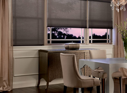 graber crystal pleat 3/8 inch single cell light filtering cellular shades