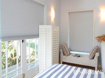 san clemente 9/16 inch single cell cordless honeycomb shade