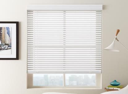 norman smartprivacy 2 inch cordless faux wood blinds thumbnail