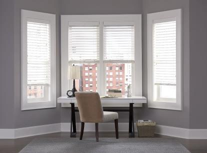 norman smartprivacy 2 inch corded faux wood blinds