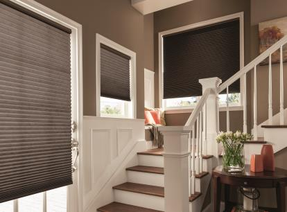 graber 1 inch evenpleat pleated shades with blackout privacy liner option