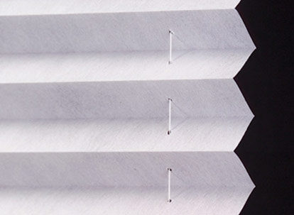 pleated shades fabric profile