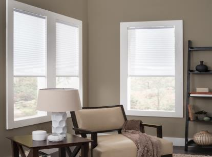 phase ii 1 inch cordless light filtering pleated shades