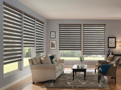 nulite premium twinlight layered room darkening horizontal sheer shade
