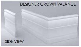 Designer Crown Valance
