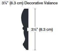 3 1/4 inch Decorative Valance