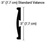 3 inch Standard Valance
