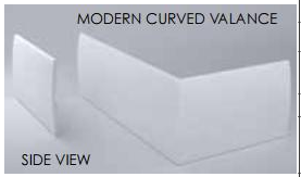 Modern Curved Valance