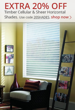 20% off timber sheer shades