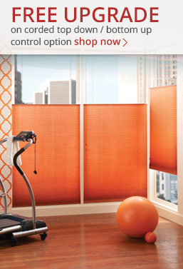 free upgrade on select graber blinds and shades